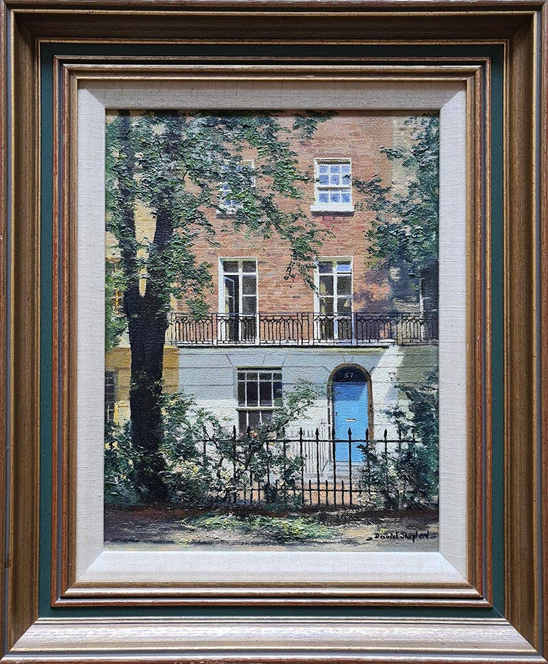 david shepherd original, Brompton square, London, painting