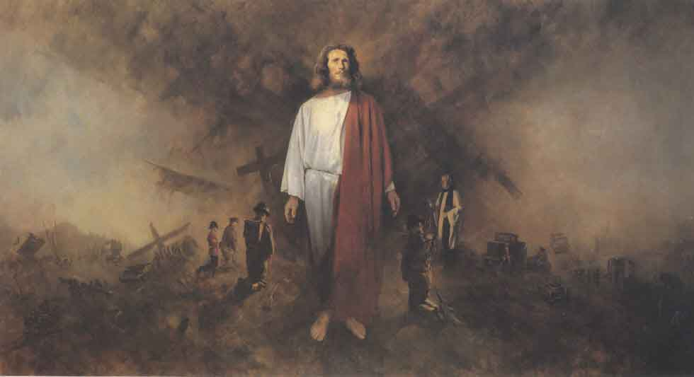 david shepherd, Christ in the Battlefield, painting