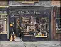 david shepherd, The Curio shop, London, Mayfair, original painting