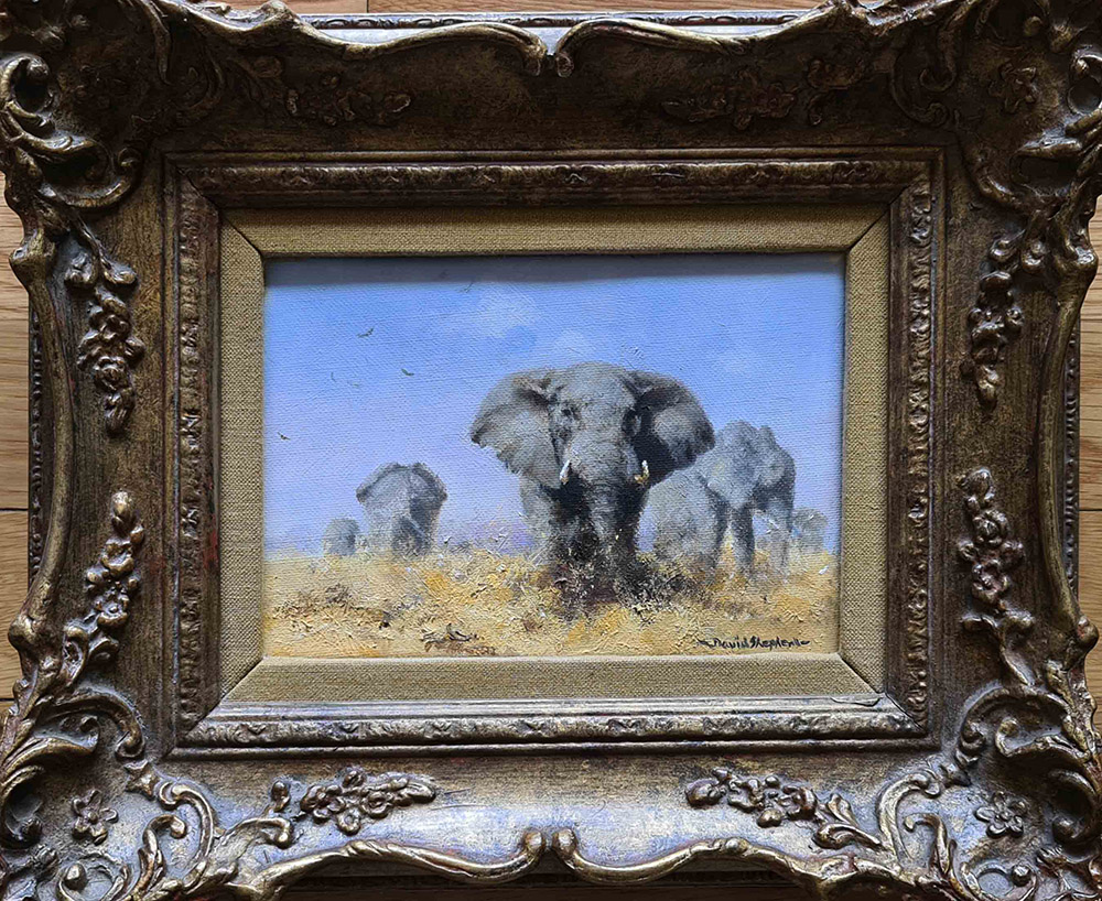 david shepherd original, elephants