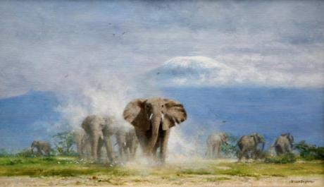 david shepherd elephants at Amboseli original