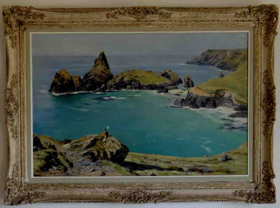 david shepherd original, Kynance Cove, Cornwall, England, painting