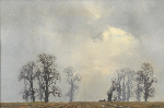david shepherd paintings, landscape with oaks