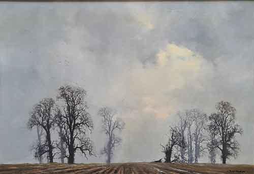 david shepherd, landscape with oaks