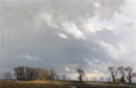 david shepherd original painting, landscape study of clouds and sunlight