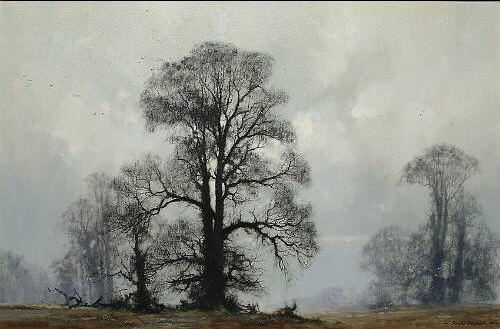 david shepherd  majestic elms original painting