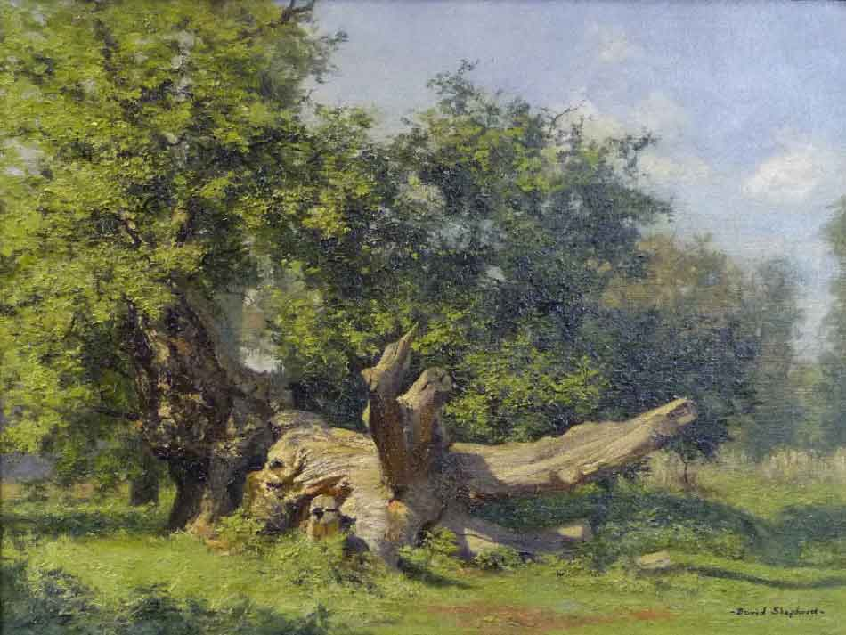 david shepherd  oak windsor painting