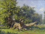 david shepherd original painting oak Windsor Great Park