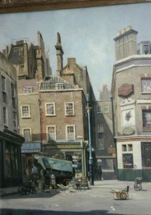 david shepherd shepherd street, painting