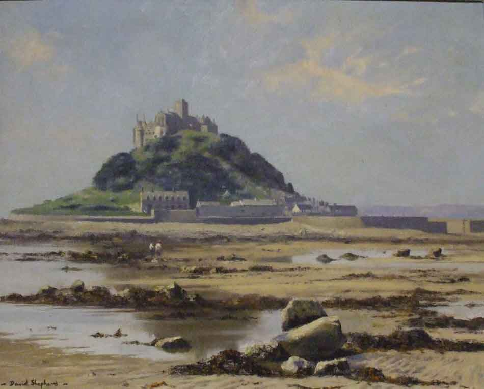 david shepherd, St. Michael's Mount, Cornwall painting