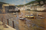 david shepherd, polperro, low tide