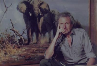David Shepherd in his studio