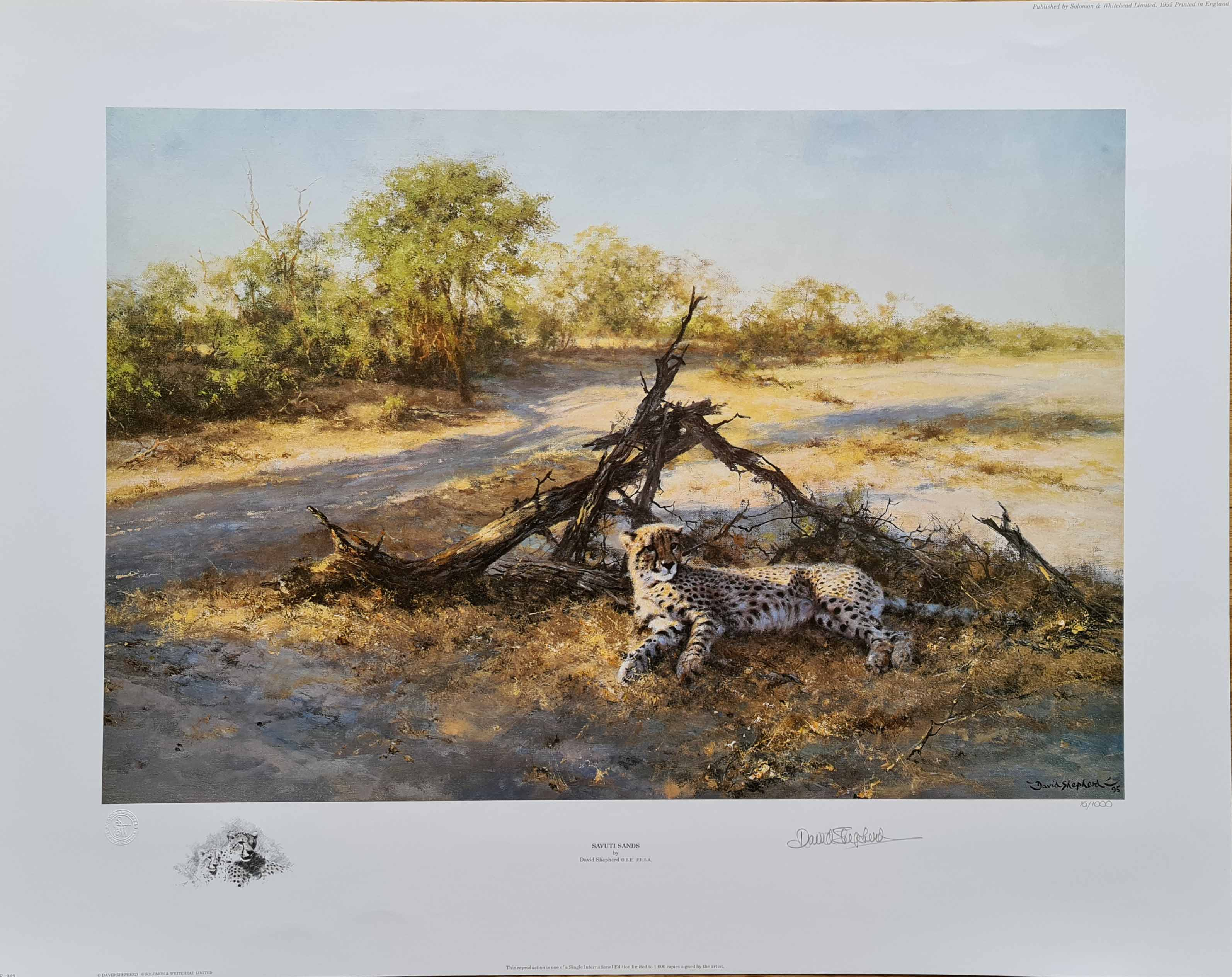 david shepherd savuti sands print