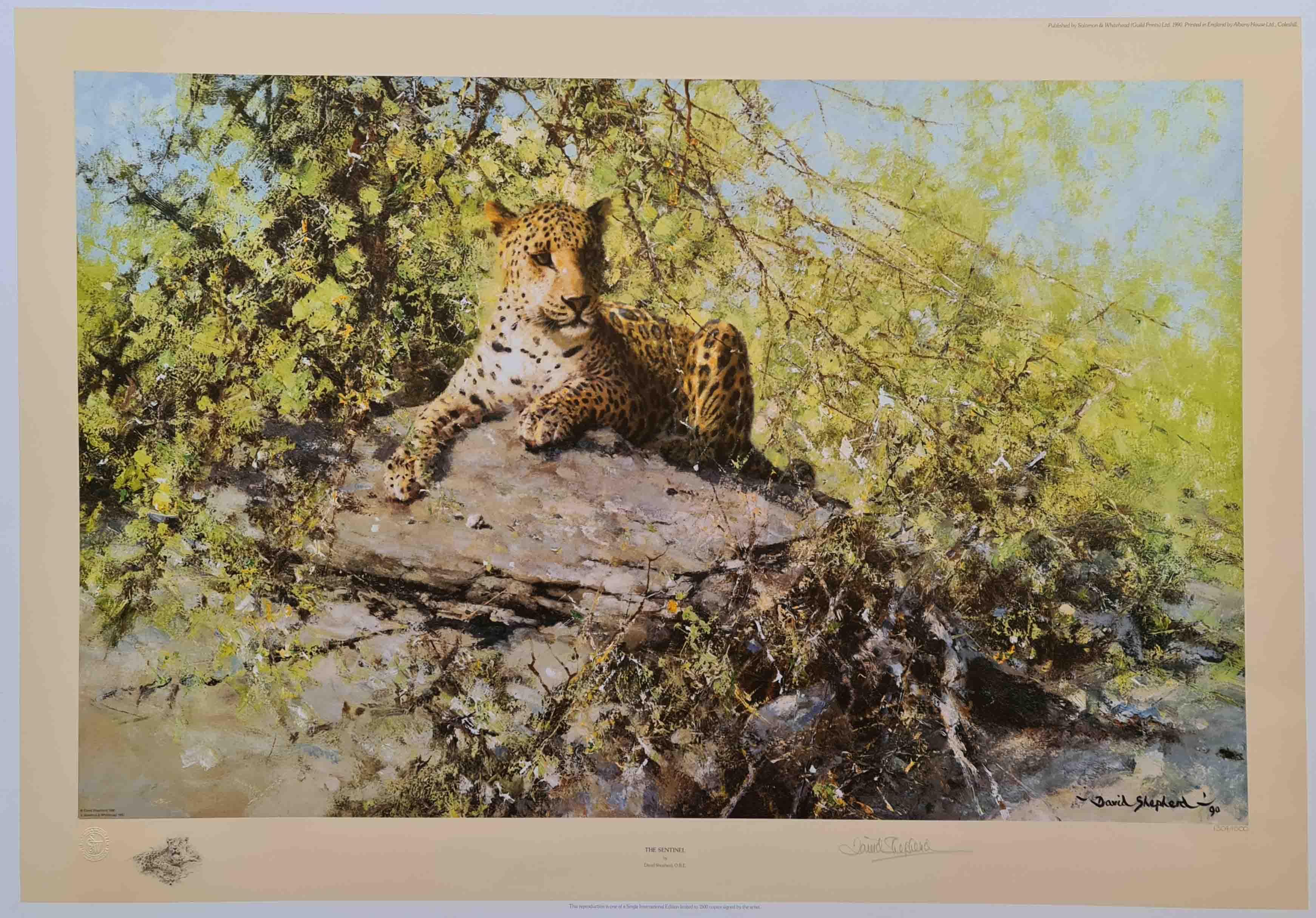 david shepherd leopards prints