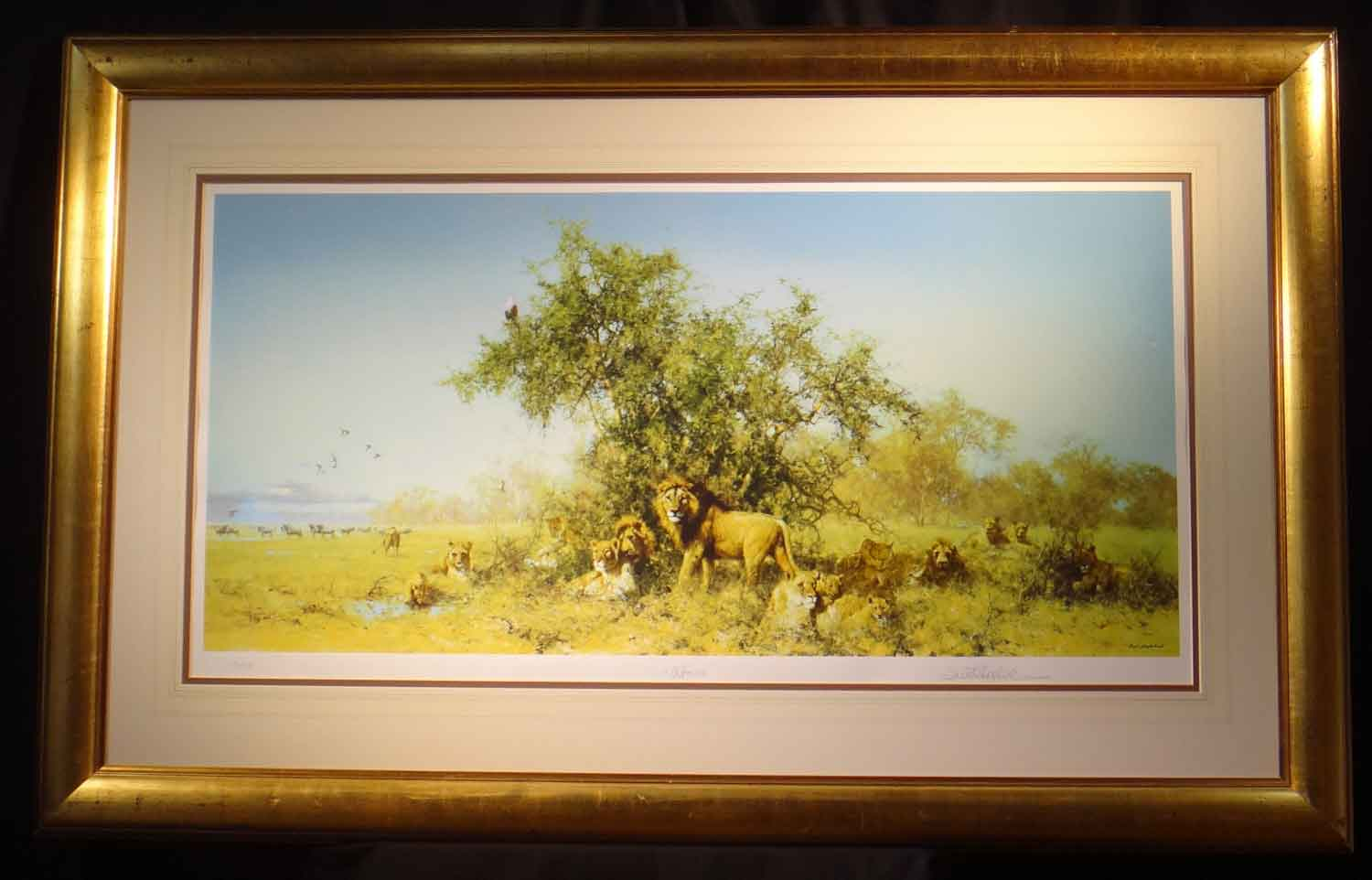 david shepherd  Africa, silkscreen, print, framed