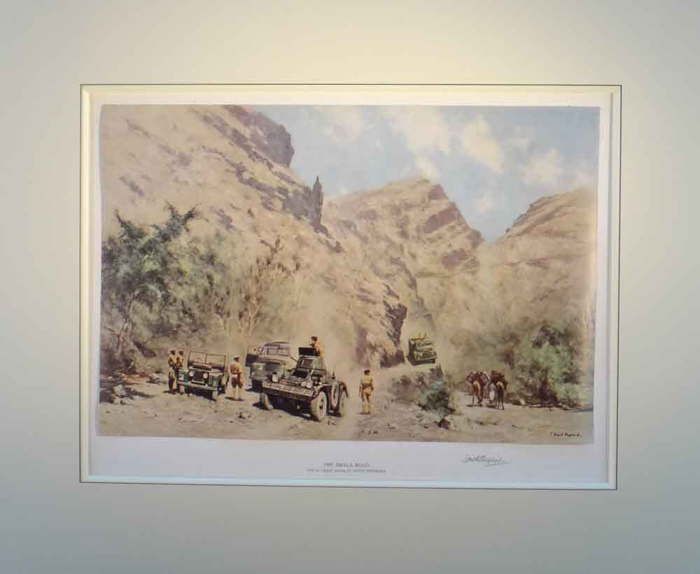 david shepherd Dhala road signed limited edition print mounted