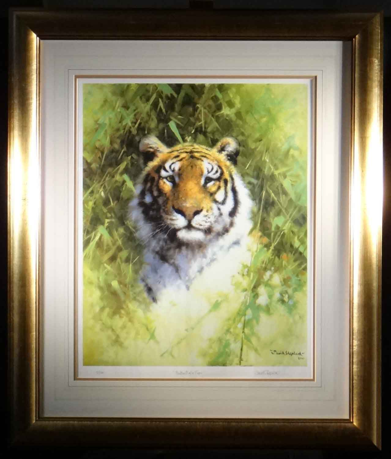 david shepherd Portrait of a Tiger