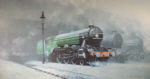 david shepherd signed limited edition print scotsman '34, steam trains