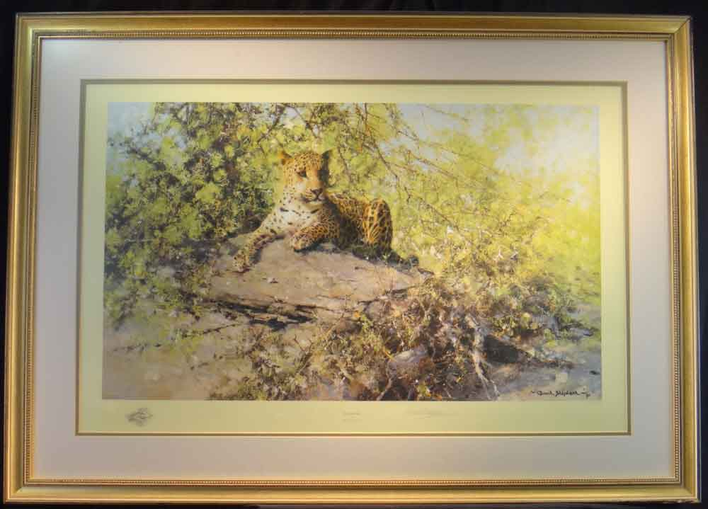 david shepherd Sentinel, signed limited edition print, framed