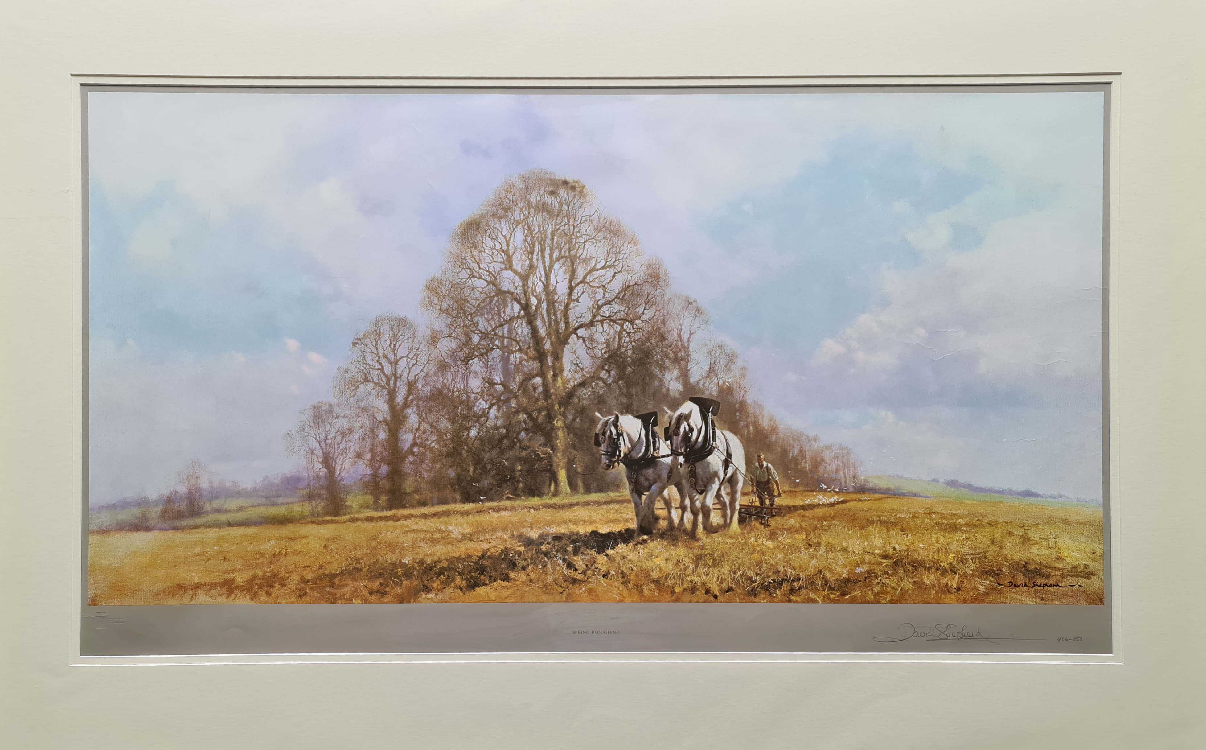 david shepherd,signed limited edition print, spring ploughing