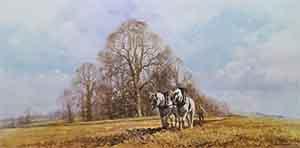 david shepherd, Spring Ploughing, signed print