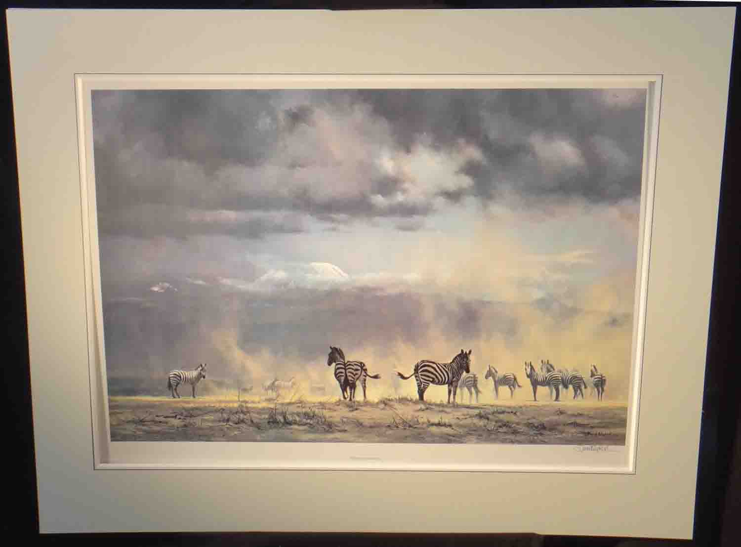 david shepherd, Storm over Amboseli, signed limited edition print