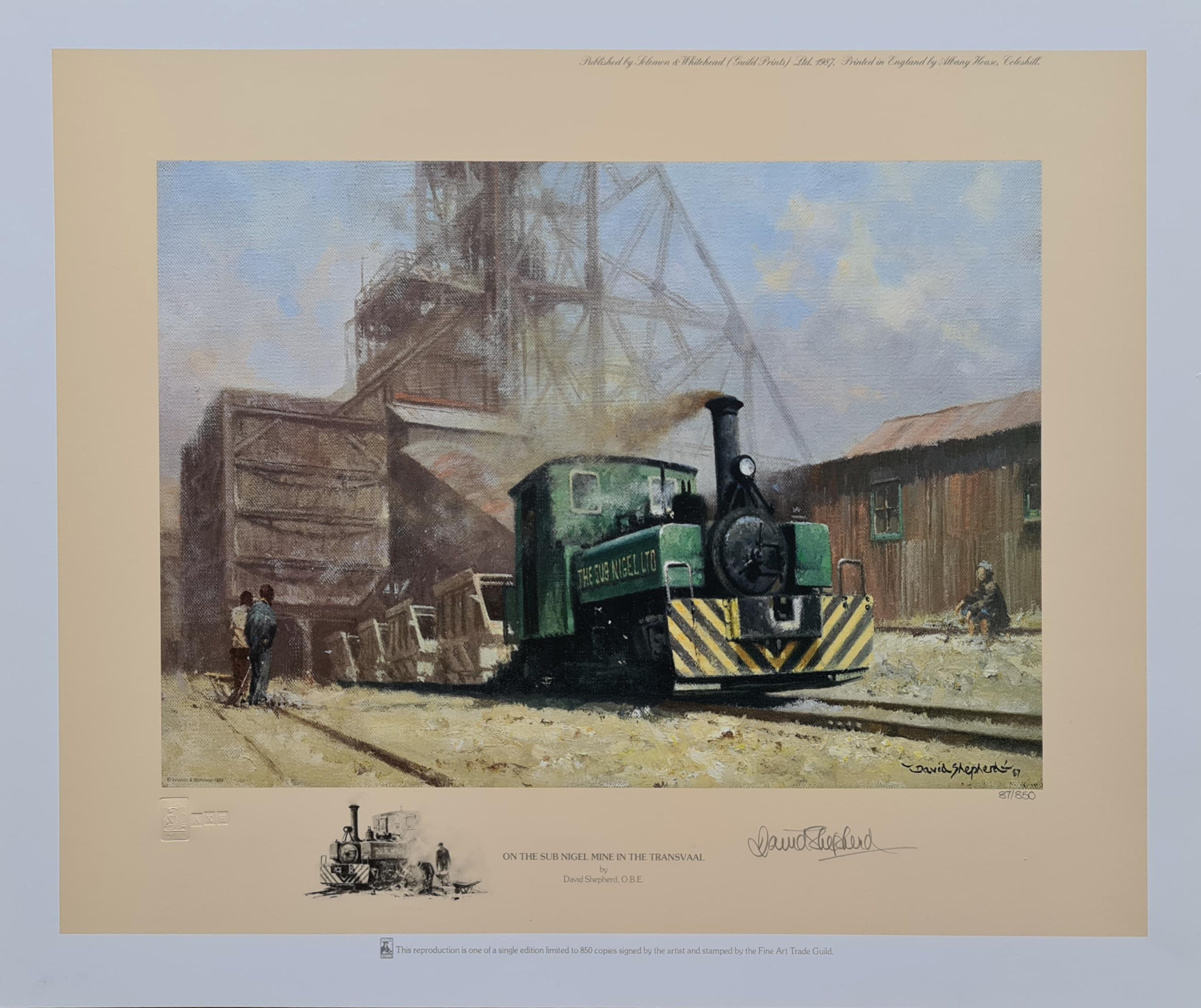 david shepherd, Sub-Nigel mine on the Transvaal, railway