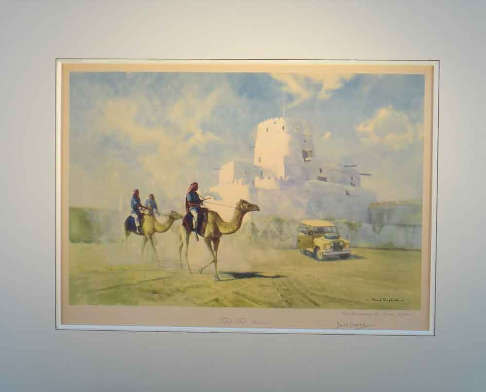 david shepherd  tahili fort Buraimi poster mounted print