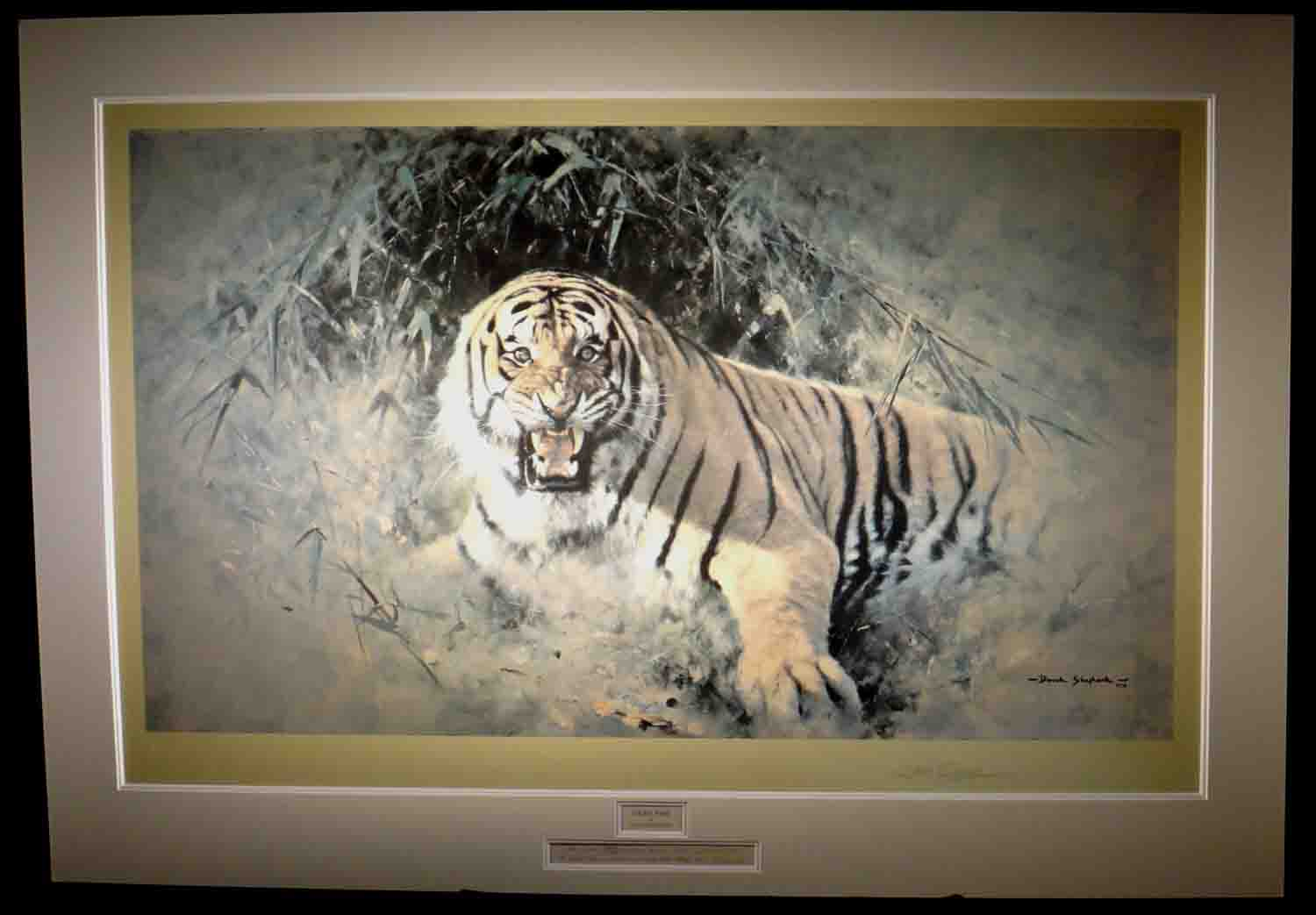 david shepherd Tiger fire