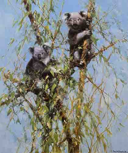 david shepherd, up a gum tree, signed, limited edition, print
