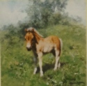 david shepherd, when i grow up I want to be a cart horse, signed print