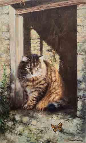 david shepherd, Whisky the Farmyard Cat, signed print