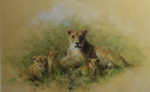 david shepherd Lioness and Cubs print