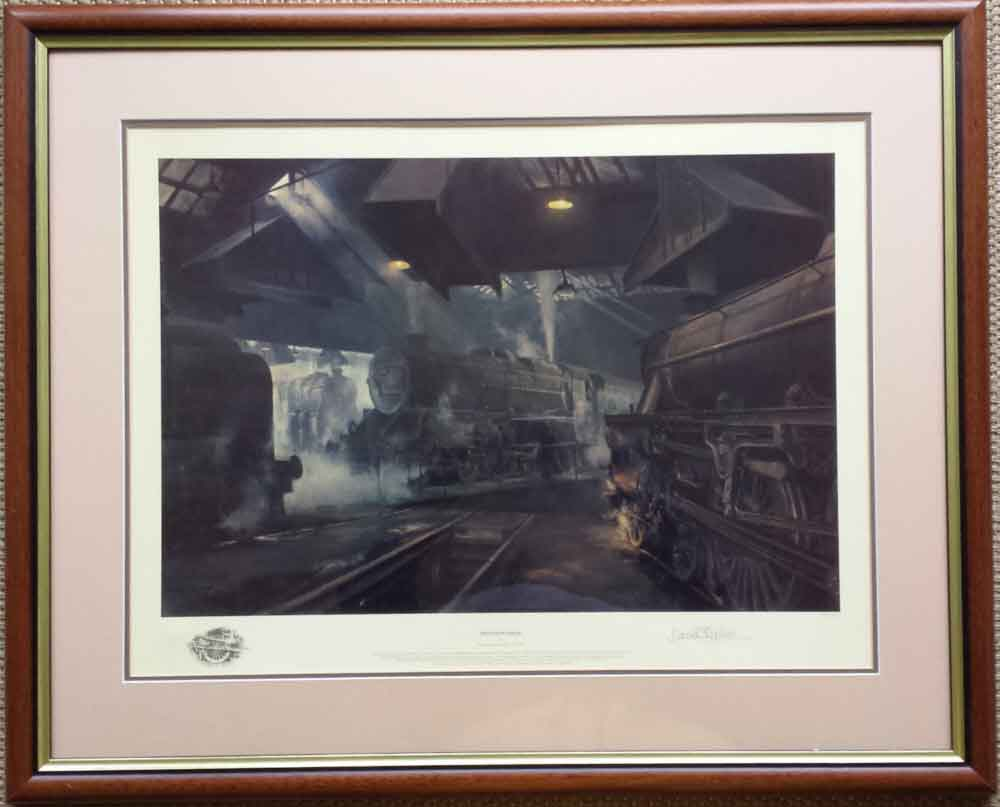 david shepherd,signed limited edition print, willesden sheds
