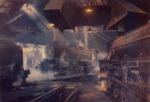 david shepherd, Willesden Sheds, steam trains