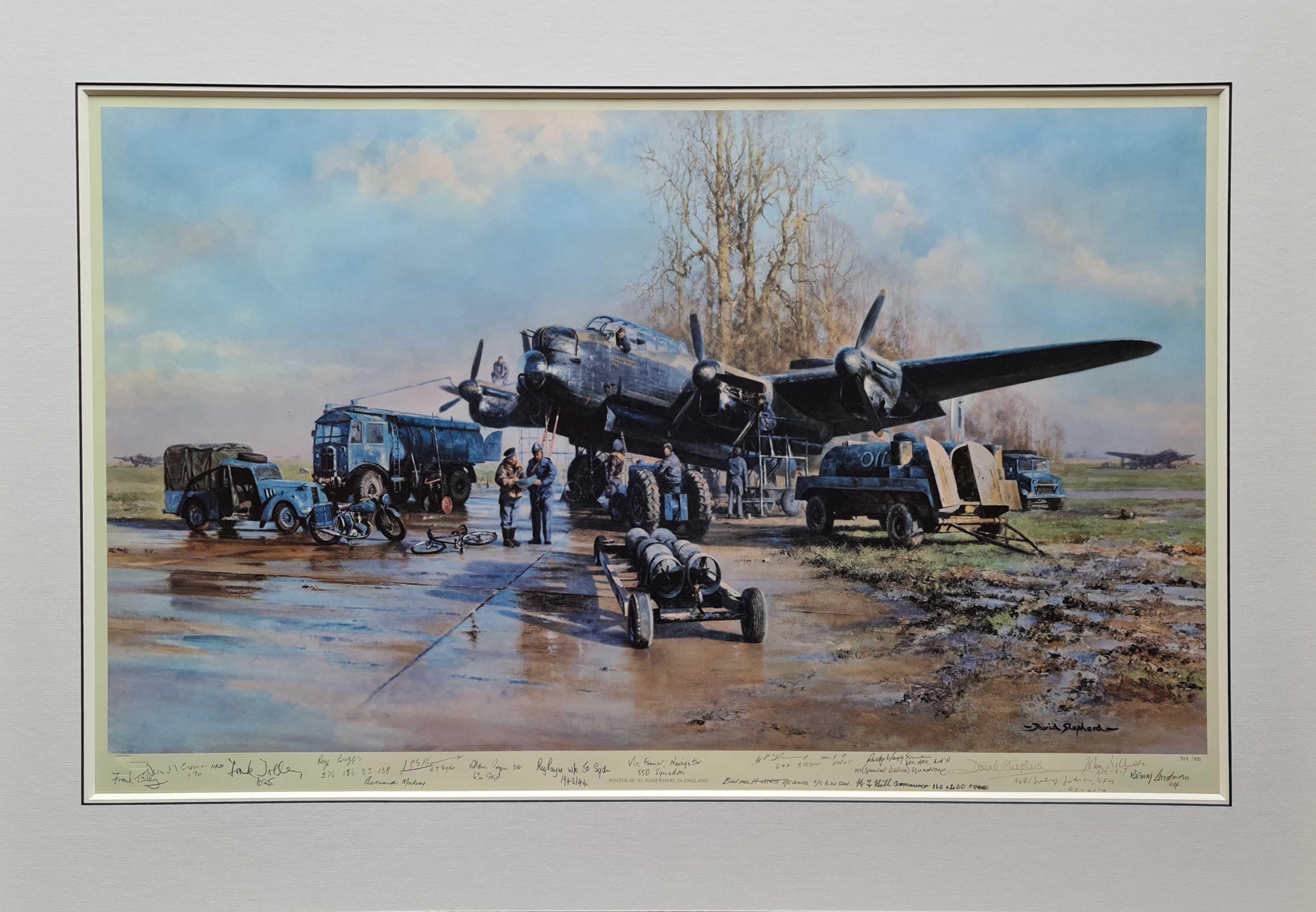 Winter of '43, Lancaster, aviation
