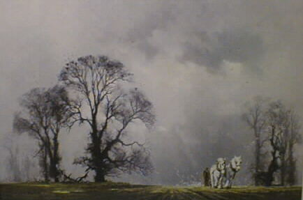 david shepherd winter plough print